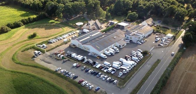 Site de production du constructeur carrossier Morice, aménagement de véhicules spécifiques
