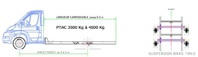 schema utilitaire porte voiture 1 essieu