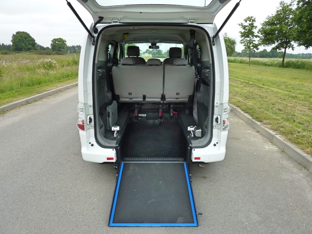 rampe fauteuil roulant Nissan E-NV Evalia TPMR Morice Constructeur
