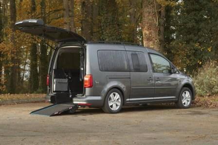 Volkswagen Caddy maxi pour fauteuil roulant TPMR